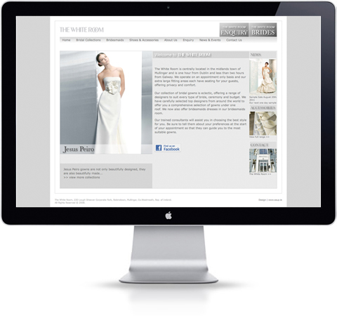 The White Room Website Design Stationery Design